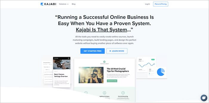 Kajabi Website Homepage