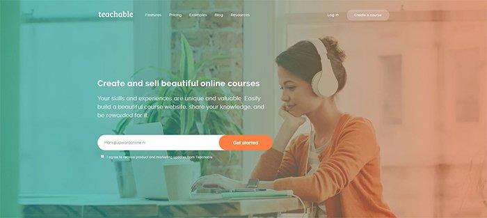 Teachable Website Homepage