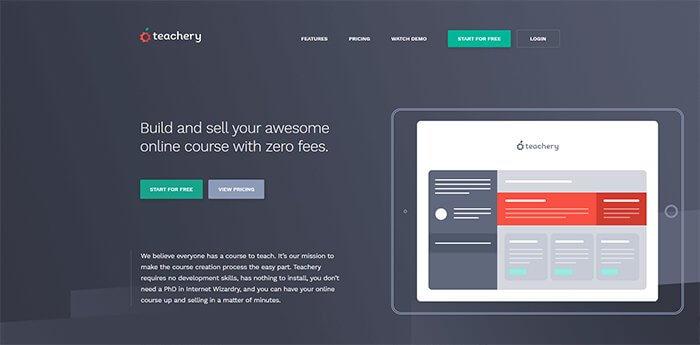 Teachary Website Homepage